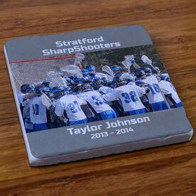 Lacrosse Stone Coaster Personalized Guys Lacrosse Photo