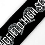 Tennis Juliband No-Slip Headband - Personalized Crossed Racquet Stripe Pattern