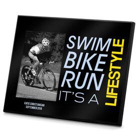 Triathlon Photo Frame Swim Bike Run It's a Lifestyle