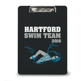 Swimming Custom Clipboard Swim Team Personalization Mens