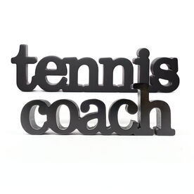 Tennis Coach Wood Words