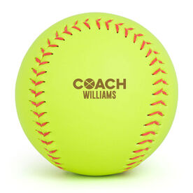 Personalized Engraved Softball - Coach (Bold)