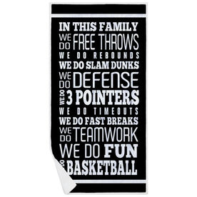 Basketball Premium Beach Towel - We Do Basketball