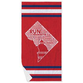 Running Premium Beach Towel - District of Columbia State Runner