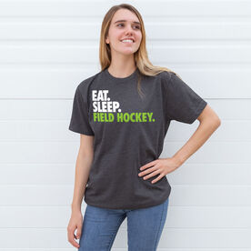 Field Hockey T-Shirt Short Sleeve Eat. Sleep. Field Hockey.