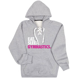 Gymnastics Sport Lace Sweatshirt Eat. Sleep. Gymnastics.