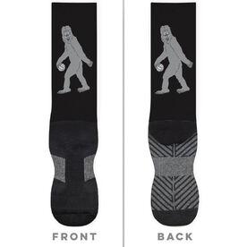 Volleyball Printed Mid-Calf Socks - Yeti