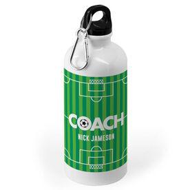 Soccer 20 oz. Stainless Steel Water Bottle - Coach Field