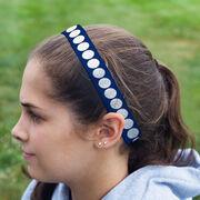 Volleyball Juliband No-Slip Headband - Volleyball Stripe Pattern