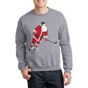 Hockey Crew Neck Sweatshirt - Slap Shot Santa
