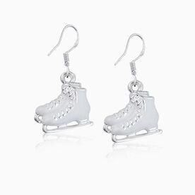 Silver Enameled Figure Skating Earrings