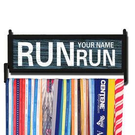 RunnersWALL Personalized Rustic Run Name Run Medal Display