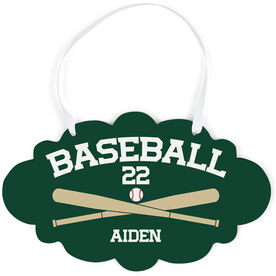 Baseball Cloud Sign - Personalized Baseball with Crossed Bats