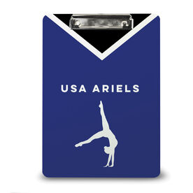Gymnastics Custom Clipboard Team Name Female