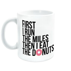 Running Coffee Mug - Then I Eat The Donuts