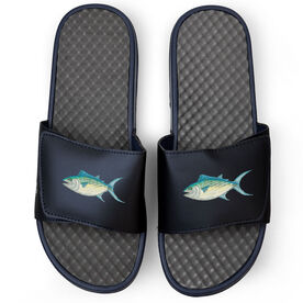 Fly Fishing Navy Slide Sandals - Gone Fishing