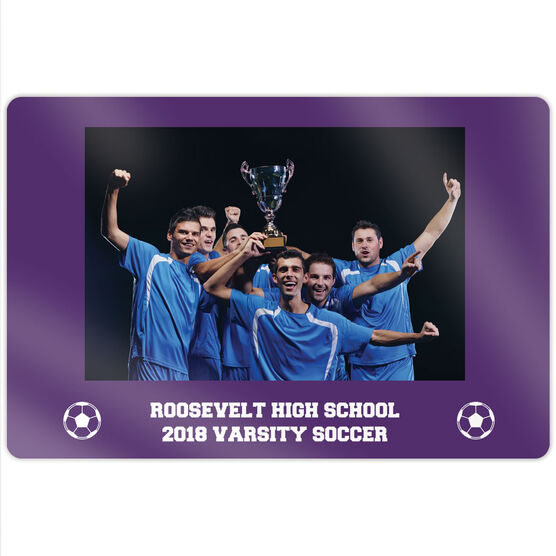 "Soccer 18"" X 12"" Aluminum Room Sign - Team Photo"