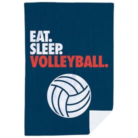 Volleyball Premium Blanket - Eat. Sleep. Volleyball. Vertical