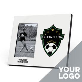 Soccer Photo Frame - Custom Logo