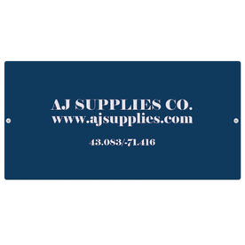 """Personalized Indoor/Outdoor Sign (8"""" x 16"""") - Simple Text Business Sign"""
