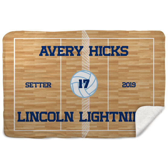 Volleyball Sherpa Fleece Blanket - Personalized Volleyball Team
