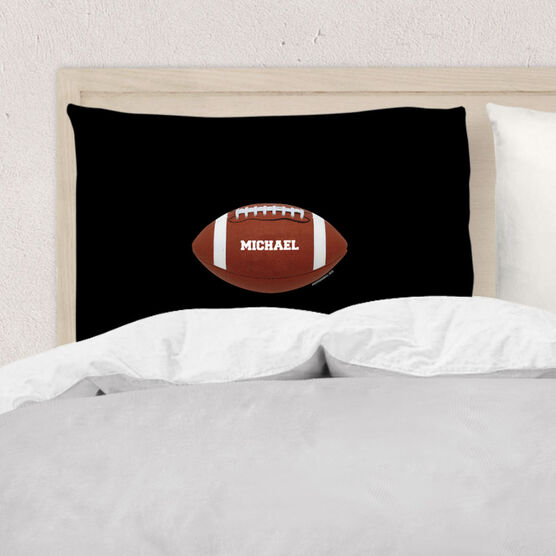 Football Pillowcase - Personalized Football Image Horizontal