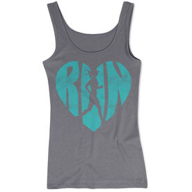 Women's Athletic Tank Top Love The Run