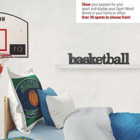 Basketball Wood Words