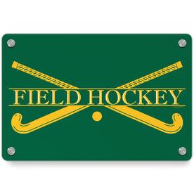 Field Hockey Metal Wall Art Panel - Crest