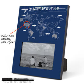 Fly Fishing Photo Frame - Countries We've Fished Outline