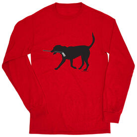 Hockey Tshirt Long Sleeve - Howe The Hockey Dog