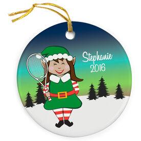 Tennis Porcelain Ornament Christmas Elf