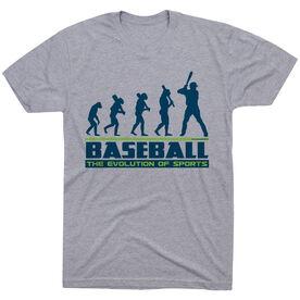 Baseball Tshirt Short Sleeve Evolution of Baseball