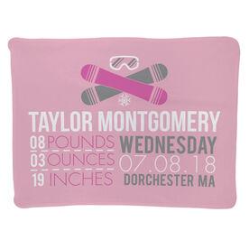 Snowboarding Baby Blanket - Birth Announcement