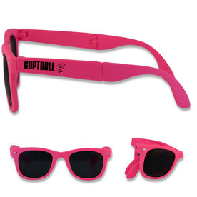 Foldable Softball Sunglasses Softball Chick