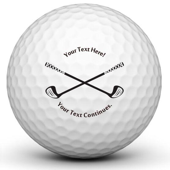 Crossed Clubs Golf Balls