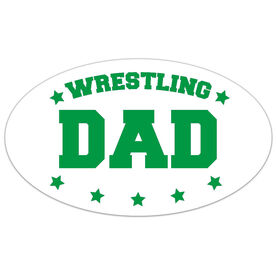 Wrestling Oval Car Magnet Wrestling Dad