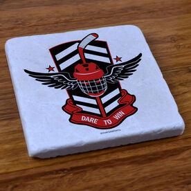 DARE TO WIN' Hockey - Stone Coaster