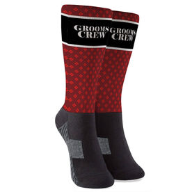 Personalized Printed Mid-Calf Socks - Groom Crew