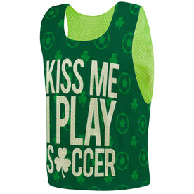 Soccer Pinnie - Kiss Me I Play Soccer