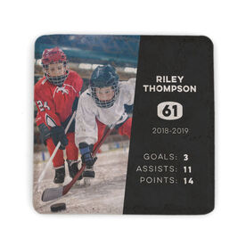 Hockey Stone Coaster - Personalized Photo with Stats