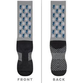 Snowboarding Printed Mid-Calf Socks - Pattern