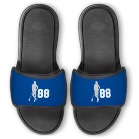 Guys Lacrosse Repwell™ Slide Sandals - Latitude Lax Player with Number
