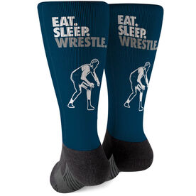 Wrestling Printed Mid-Calf Socks - Eat Sleep Wrestle