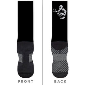 Softball Printed Mid-Calf Socks - Catcher