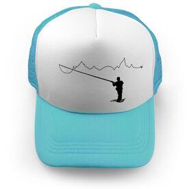 Fly Fishing Trucker Hat - When You Fish Nature Follows