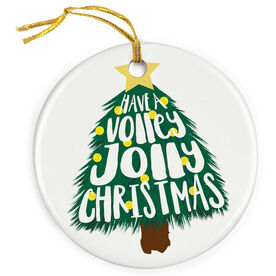 Tennis Porcelain Ornament Have A Volley Jolly Christmas