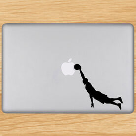 Hang Time Basketball Removable ChalkTalkGraphix Laptop Decal
