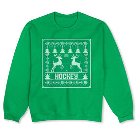 Hockey Crew Neck Sweatshirt - Hockey Christmas Knit