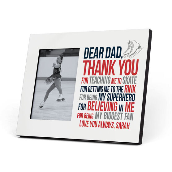 Figure Skating Photo Frame - Dear Dad